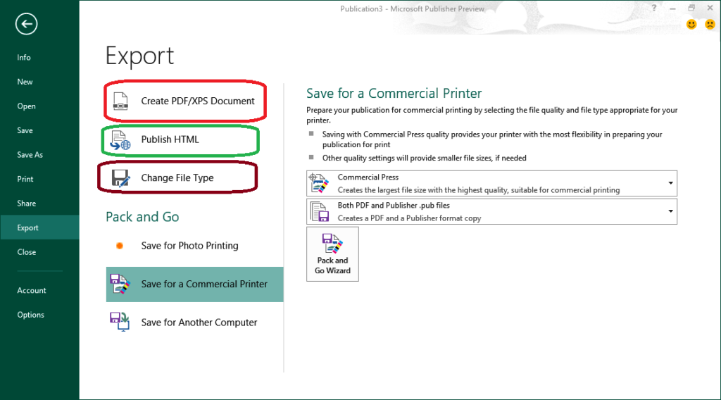 Convert Publisher to PDF (Microsoft Publisher presentations to PDF)