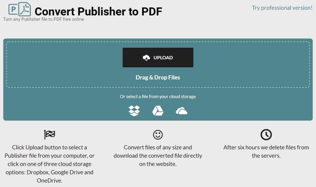 publisher to pdf mac free